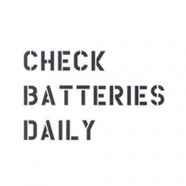 """Standard 1"""" Check Batteries Dailey Paint Mask Stencil Fits 41-71 Jeep & Willys (3 Line)"""