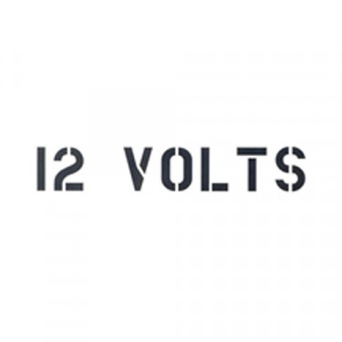"Standard 1"" 12 Volts Paint Mask Stencil Fits 41-71 Jeep & Willys"