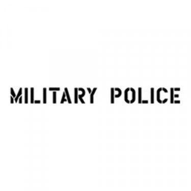 "1.75"" Paint Mask Stencil ""Military Police"" Fits 41-71 Jeep & Willys"