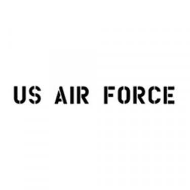 "1.75"" Paint Mask Stencil ""US Air Force"" Fits 41-71 Jeep & Willys"