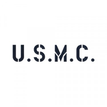 "1.75"" Paint Mask Stencil ""U.S.M.C."" Fits 41-71 Jeep & Willys"