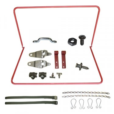Top Bow Frame Assembly, Bracket & Strap Kit, 41-45 MB, GPW