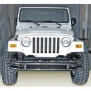 Front Tube Bumper without Riser in Black, 76-86 CJ
