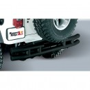 Rear Tube Bumper with Hitch in Black, 55-86 CJ