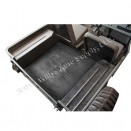 Moulded Rear Floor Mat for Cargo Area in Black Rubber, 41-72 Jeep & Willys