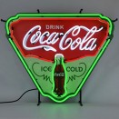 """Neon """"Ice Cold Coca-Cola"""" Shield Sign Fits Willys Accessory"""