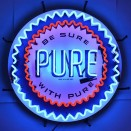 "Neon ""Pure Gasoline"" Wall Sign Fits Willys Accessory"