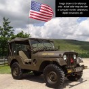 Olive Drab Green Semi Gloss Paint, SAMPLE, 41-71 Jeep & Willys