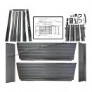Steel Pick Up Truck Bed Box Assembly with Tailgate & Chains Fits 46-64 Truck