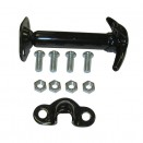 Black Hood Catch Kit, 41-71 Jeep & Willys