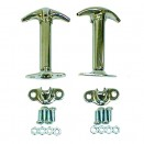 Chrome Hood Catch Kit for Both Sides, 41-71 Jeep & Willys