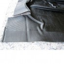 US Made Moulded Front Floor Mat in Black Rubber, 46-64 Truck, Station Wagon