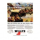 Vintage Willys Ad The Sun Never Sets