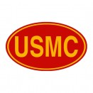 New Yellow on Red USMC Euro Decal Fits 41-71 Jeep & Willys