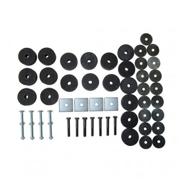Complete Universal Body Mount Kit with Hardware  Fits  41-71 Jeep