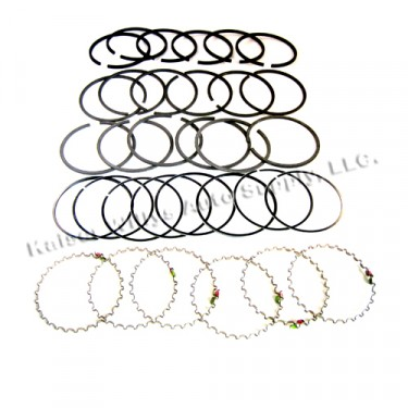 """New Complete Piston Ring Set - .040"""" o.s.  Fits  50-55 Station Wagon, Jeepser with 6-161 engine"""