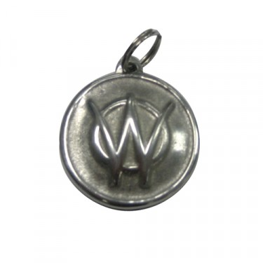 "New ""W"" Logo Keychain (pewter) Fits : 41-71 Jeep & Willys"
