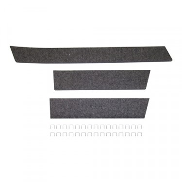 Radiator Air Deflector Kit (Felt) Fits  41-64 MB, GPW, CJ-2A, 3A, 3B