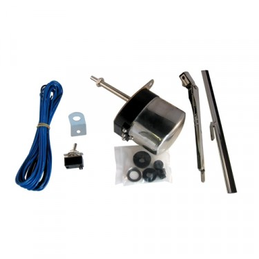 Windshield Wiper Motor Conversion Kit in 12 volt (Stainless)  Fits  41-68 MB, GPW, CJ-2A, 3A, 3B, 5, M38, M38A1