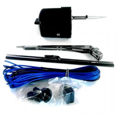 Windshield Wiper Motor Conversion Kit in 12 volt (Black) Fits  41-68 MB, GPW, CJ-2A, 3A, 3B, 5, M38, M38A1