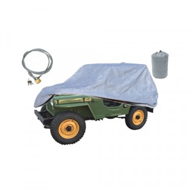 Full Car Cover Kit (3 Piece) Fits 41-71 MB, GPW, CJ-2A, 3A, 3B, 5, M38, M38A1