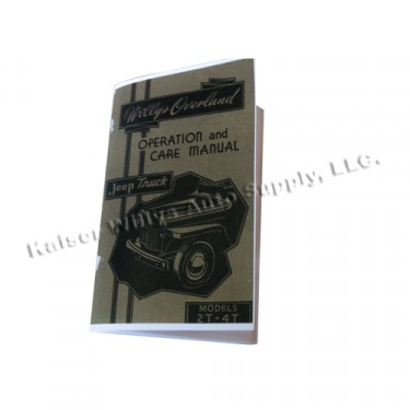 Owners Manual  Fits  46-49 Truck