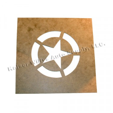 "Paint Stencil w/2.25"" Diameter Star ""Broken"" Invasion Circle  Fits  41-71 Jeep & Willys"