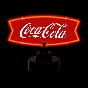"Neon ""Coca-Cola"" Fishtail Sculpture Fits Willys Accessory"