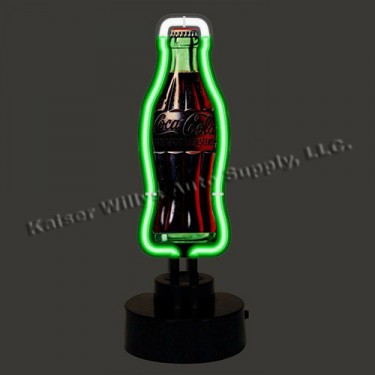 "Neon ""Coca-Cola"" Vintage Bottle Sculpture Fits Willys Accessory"