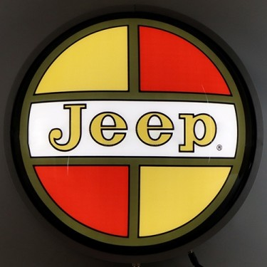 """Jeep Retro 15"""" Backlit Lighted Sign Fits Willys Accessory"""