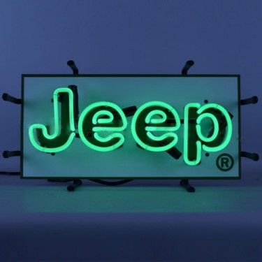 """Jeep"" Green Junior Neon Wall Sign Fits Willys Accessory"