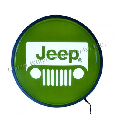 """15"""" Backlit """"Jeep"""" LED Wall Sign Fits Willys Accessory"""