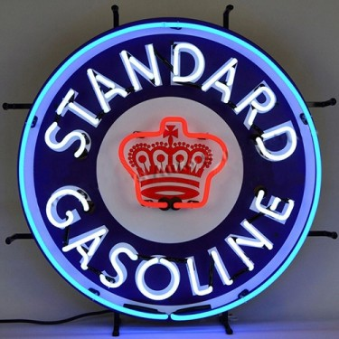 "Neon ""Standard Gasoline"" Wall Sign Fits Willys Accessory"