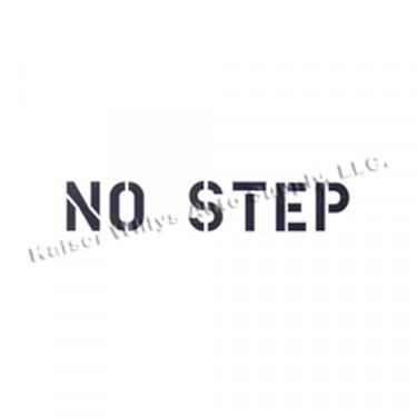 """New Standard 1"""" No Step Paint Mask Stencil Fits  41-71 Jeep & Willys"""
