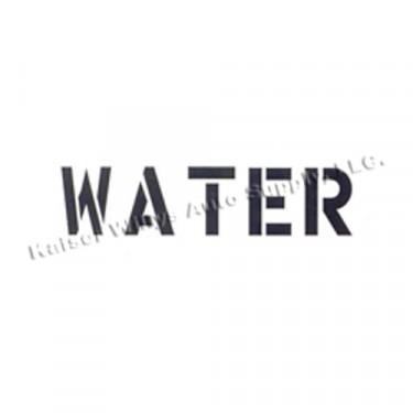 """New Standard 1"""" Water Paint Mask Stencil  Fits  41-71 Jeep & Willys"""