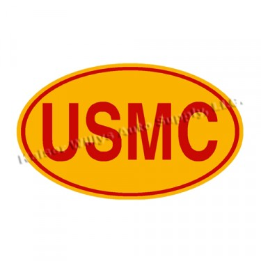 New Red on Yellow USMC Euro Decal  Fits  41-71 Jeep & Willys