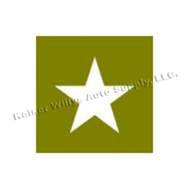 """Paint Mask Stencil 4"""" Star Fits  41-71 Jeep & Willys"""