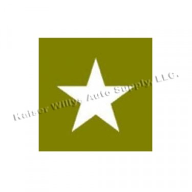 "Paint Mask Stencil 3"" Star Fits  41-71 Jeep & Willys"