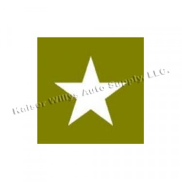 "Paint Mask Stencil 16"" Star Fits  41-71 Jeep & Willys"