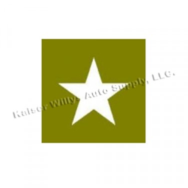 "Paint Mask Stencil 18"" Star Fits  41-71 Jeep & Willys"