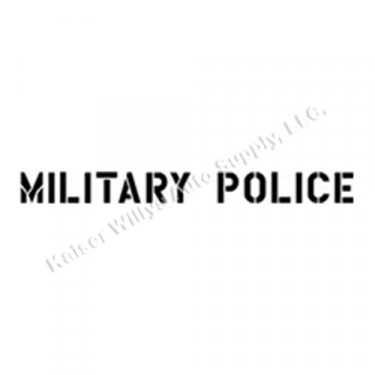 """New 1.75"""" Paint Mask Stencil """"Military Police"""" Fits  41-71 Jeep & Willys"""
