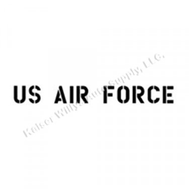"""New 1.75"""" Paint Mask Stencil """"US Air Force"""" Fits  41-71 Jeep & Willys"""