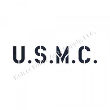 "New 1.75"" Paint Mask Stencil ""U.S.M.C."" Fits  41-71 Jeep & Willys"