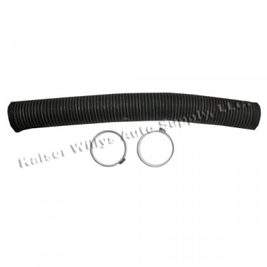 """Flexible Defroster Air Duct 4-1/2"""" x 4'  Fits  46-71 Jeep & Willys"""