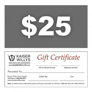 $25 Gift Certificate to Kaiser Willys