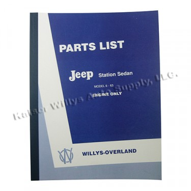 Master Parts Engine Manual (6-161 L) Fits  50-51 Station Wagon, Jeepster