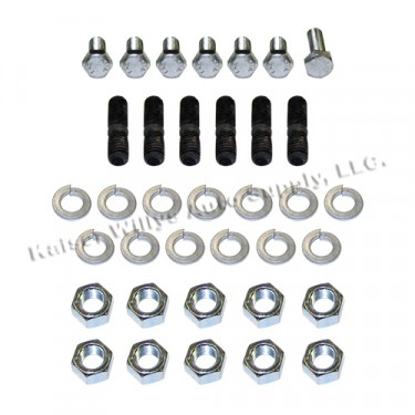 Engine Stud & Bolt Hardware Kit for the Timing Cover & Front Plate Fits  41-53 MB, GPW, CJ-2A, 3A, M38 with 4-134 L engine
