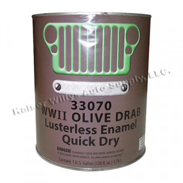Olive Drab Green Flat Paint (1 Gallon) Fits  41-71 Jeep & Willys
