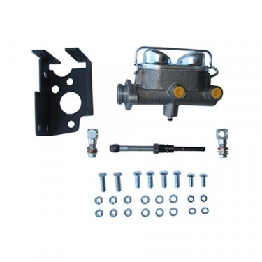 Disc Brake Dual Reservoir Master Cylinder Kit Fits  41-71 MB, GPW, CJ-2A, 3A, 3B, 5, M38, A1