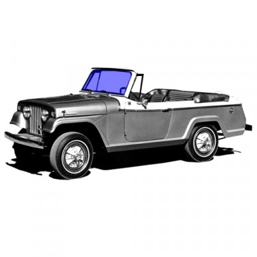 New Replacement Windshield Glass Fits  67-71 Jeepster Commando